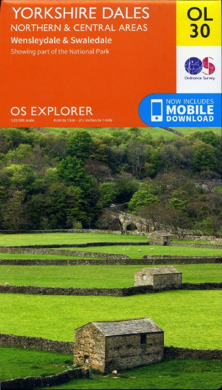 OS Explorer OL 30 Yorkshire Dales - Northern & Central Areas